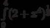 \int\limits_0^4 (2+x^{4})^{\frac{1}{3}}