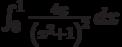 \int_0^1 \frac{4 x}{\left(x^2+1\right)^2} \, dx