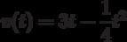 v(t)=3t-\dfrac{1}{4}t^2