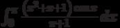 \int_0^{\pi } \frac{\left(x^2+x+1\right) \cos x}{\pi +1} \, dx