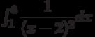 \int_{1}^{3} \dfrac{1}{(x-2)^2} dx
