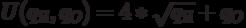 U(q_Я, q_O)=4* \sqrt{q_Я}+q_O