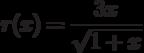 r(x)=\dfrac{3x}{\sqrt{1+x}}