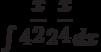\int 4^{\dfrac{x}{2}}2^{\dfrac{x}{4}}  dx