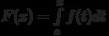 F(x)=\int\limits_a^x f(t)dt