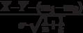 \frac{\overline{X}-\overline{Y}-(m_1-m_2)}{\sigma \cdot \sqrt{\frac{1}{n} + \frac{1}{k}}}