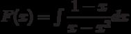 F(x)=\int \dfrac{1-x}{x-x^2} dx