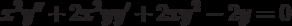 x^2y''+2x^2yy'+2xy^2-2y=0