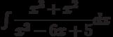 \int \dfrac{x^3+x^2}{x^2-6x+5} dx