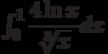 \int_{0}^{1} \dfrac{4\ln x}{\sqrt[3]{x}} dx
