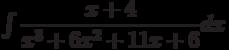 \int \dfrac {x+4 }{x^3+6x^2+11x+6 } dx