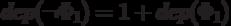 dep(\neg \Phi _<1></noscript>)=1 + dep( \Phi _<1>)»/>, а <img src=