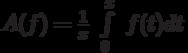 A(f)=\frac{1}{x}\ \int\limits_{0}^{x}\ f(t)dt